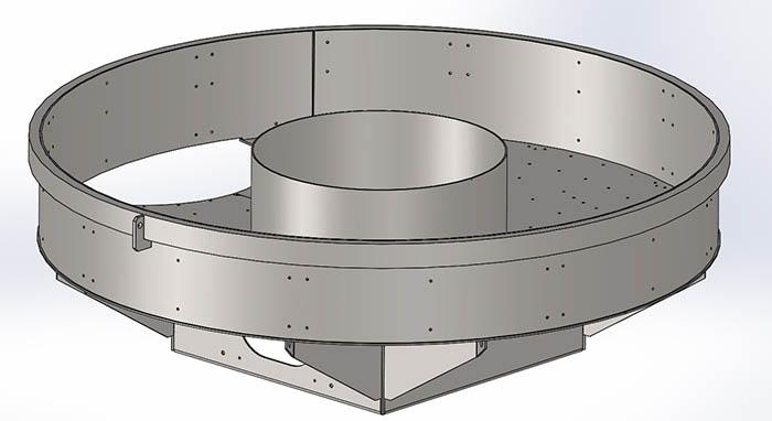 Ohišje za betonski mešalec